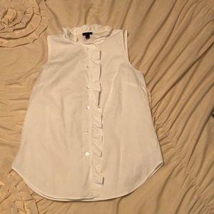 White button up sleeveless